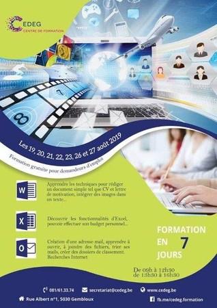 Formation de base en informatique pour demandeurs d'emploi et public émanant du CPAS