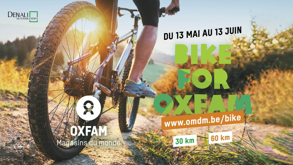 affiche bike for oxfam