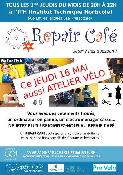 repaircafegembloux affiche mai2019 ITH vélo small