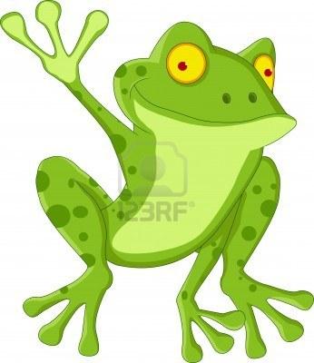 happy frog cartoon