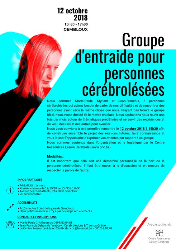 Affiche groupe d'entraide