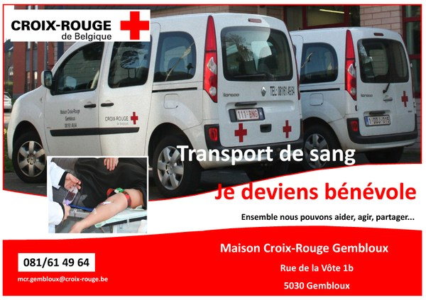 Appel volontaires transports sang A4