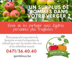 Vous avez habituellement du surplus de pommes dans votre verger ?