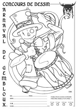 carnaval concours coloriage 2020