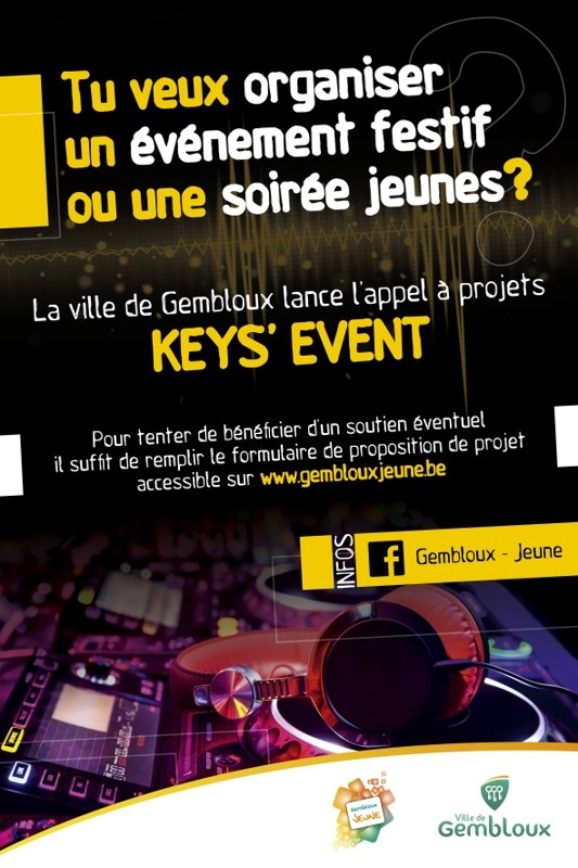 affiche keys event
