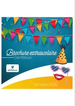Brochure extrascolaire : Carnaval - Pâques 2020