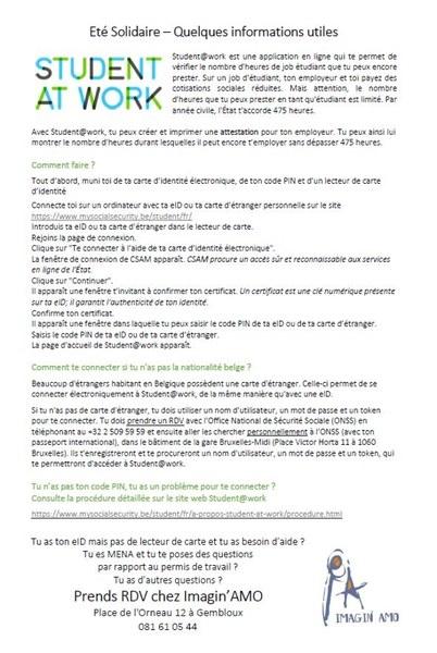 StudentatWork InfosUtiles