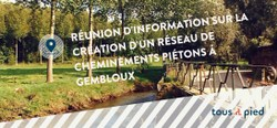 Réseaux de cheminement piéton à Gembloux - séance d'information