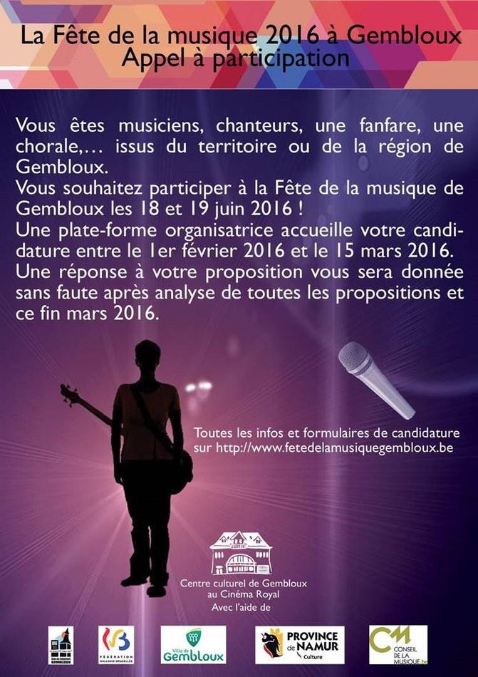 F Musique 2016 appel